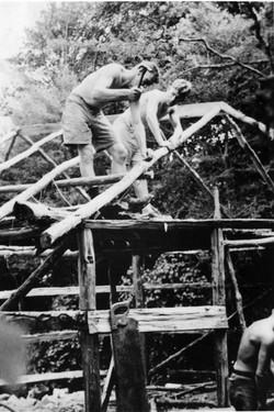 Tainui Hut under construction, 1938