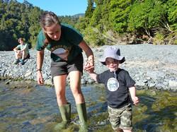 Helping hand - Orongorongo River
