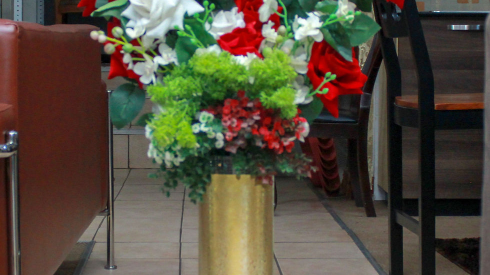 Lyell Straight Botanical Floor Vase