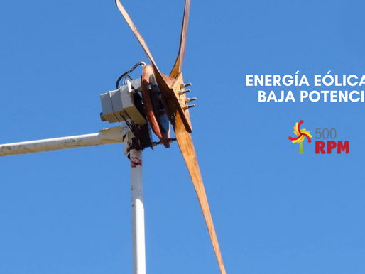 Energía Eólica de baja potencia con 500RPM