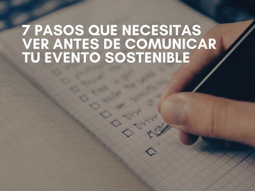 ¿Cómo comunicar tu evento sostenible?