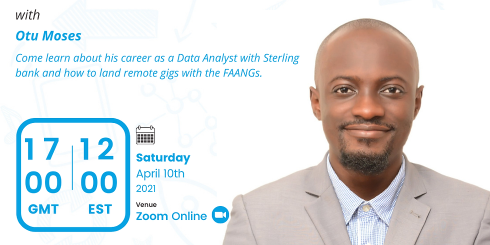 My Data Career Session with Otu Moses