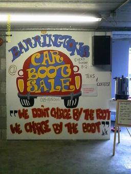 Barringtons Car Boot Sale