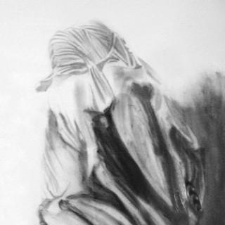 Sculpture Study, graphite on paper