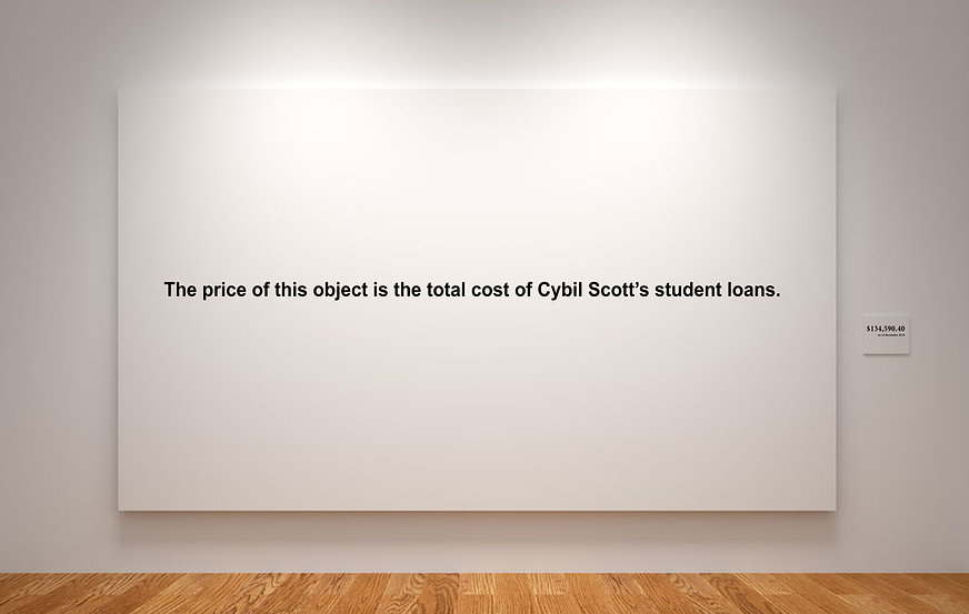 student loan art painting market value