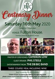Uplands RFC Centenary Dinner - Fulton House, Swansea University