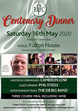 Uplands RFC Centenary Dinner - Fulton House, Swansea University