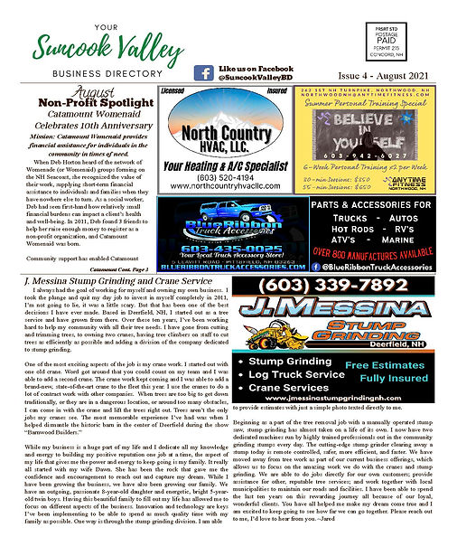 Suncook Valley Business Directory August 2021