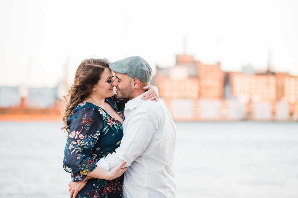 baltimore maryland photographer | a fells point engagement session | autumn + gino