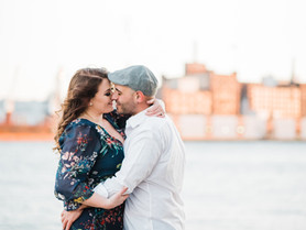 baltimore maryland photographer   a fells point engagement session   autumn + gino
