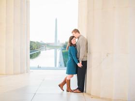 washington dc photographer   a lincoln memorial engagement   sarah + ryan