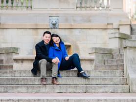 a spanish steps engagement    washington d.c. photographer   michael + raishay