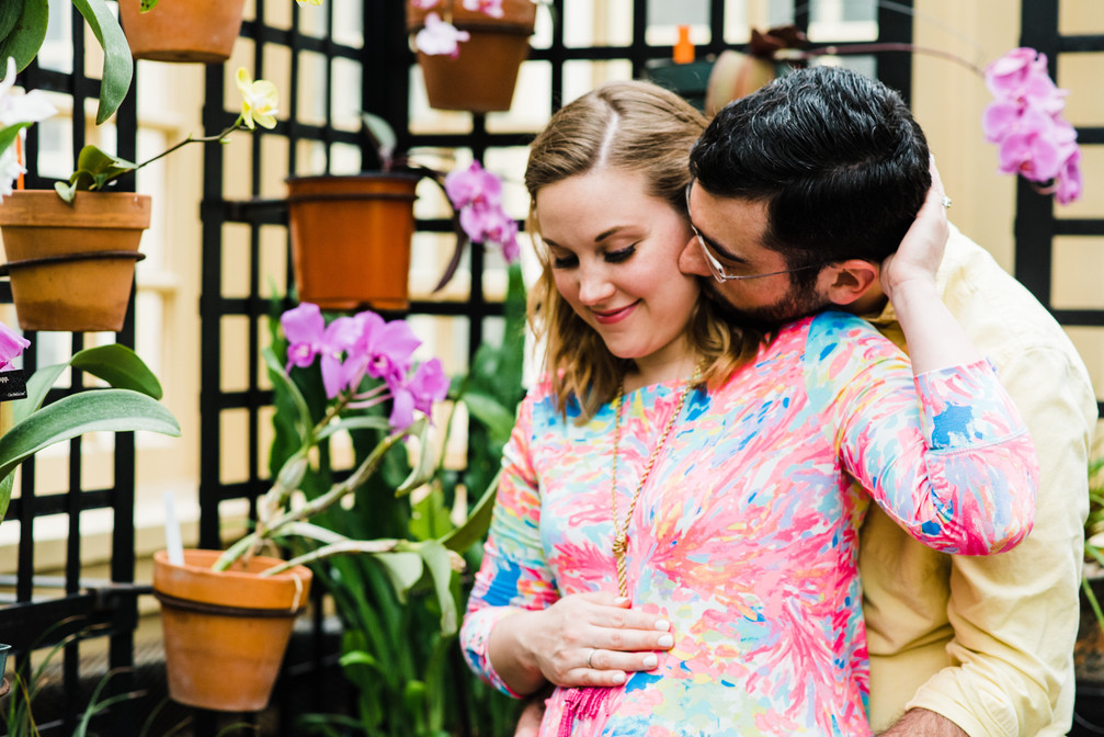 baltimore maryland photographer | a rawlings conservatory maternity session | morgan