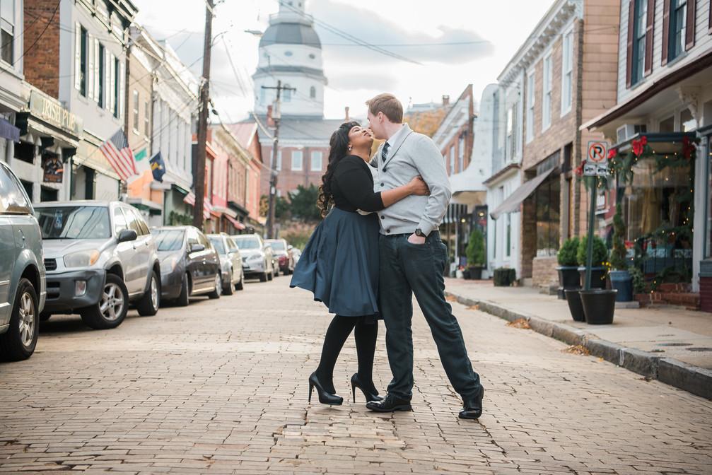 annapolis maryland photographer | a downtown annapolis engagement | jasmine + uli