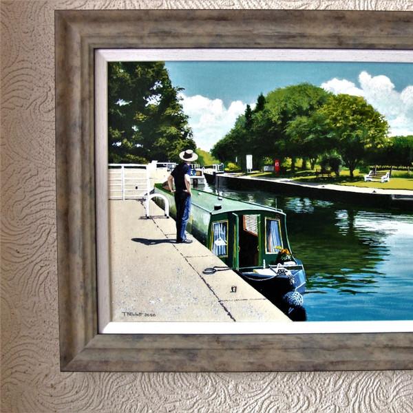 Cranfleet Lock Canvas size 40cm x 30cm Price £200