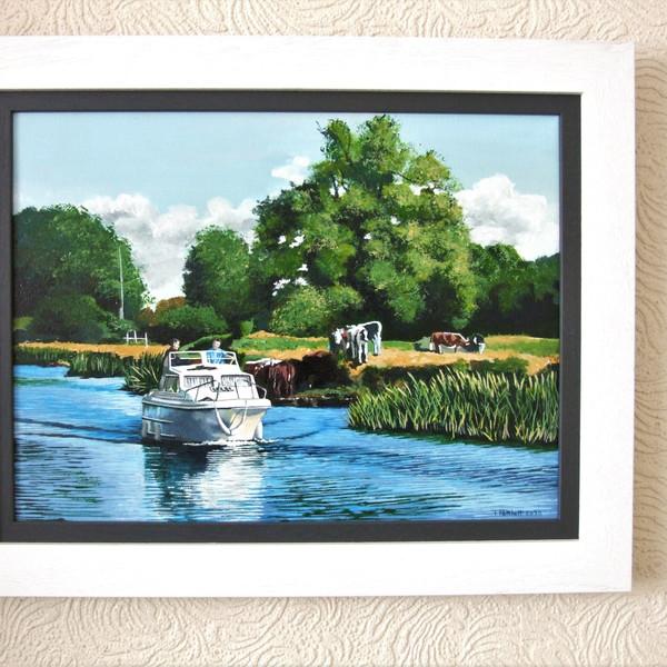 Day Boat Canvas size 40cm x30cm Price £200