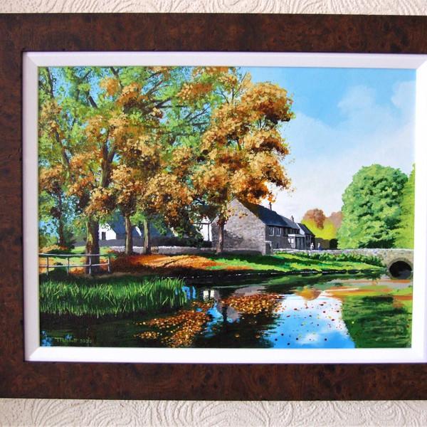 Millpond in Autumn Canvas size 40cm x 30cm Price £200