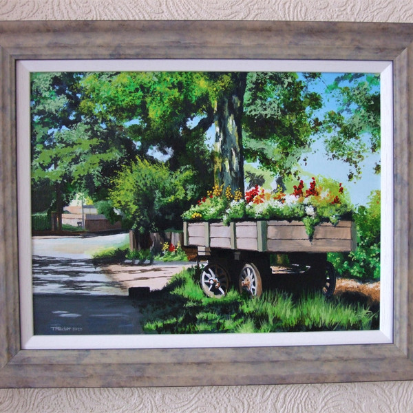 Cedars Farm Draycott Canvas size 40cm x 30cm Price £200