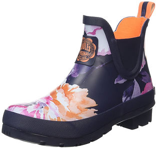 Joules U_wellibob, floral short wellies, floral wellies, floral wellington boots, floral travel gifts, floral travel accessories, travel presents, travel gifts