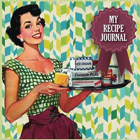 retro recipe journal, metal baking plaque, retro gifts, gifts for bakers, home baking gifts