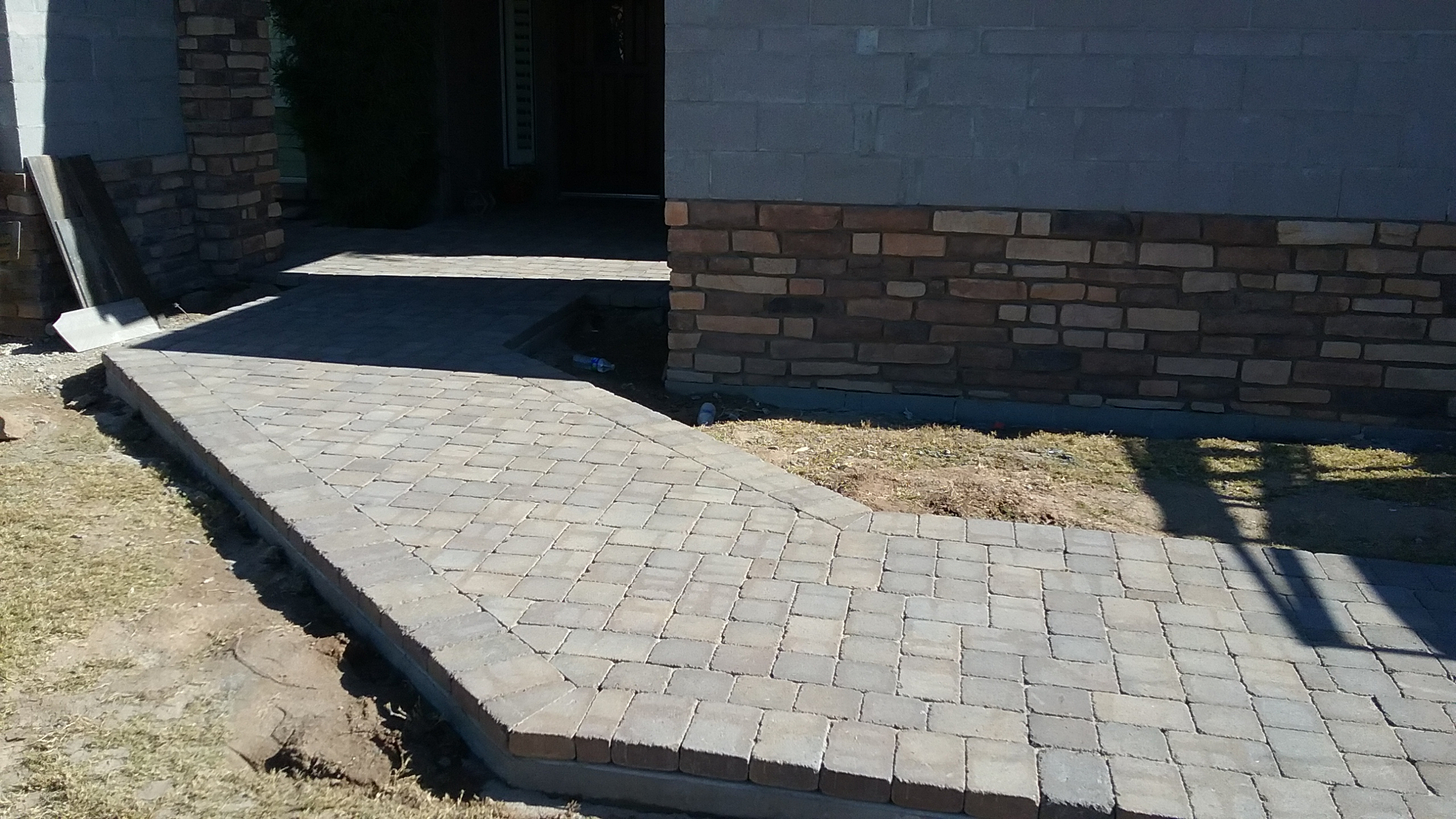 New paver entrance path