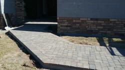 New paver entrance path