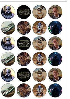 the force awakens cupcake toppers, star wars cupcake toppers, star wars baking accessories, gifts for bakers, baking presents, home baking gifts