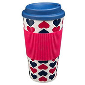 hearts travel mug, travel presents for valentine's day
