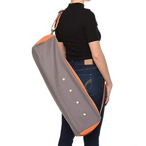 Dusky Leaf Cubist Yoga Bag