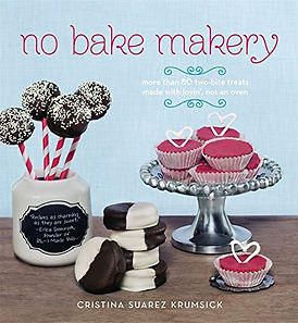 no bake maker cristina suarez krumsick, no bake baking books, no bake recipe books, best no bake books, no baking recipes, recipes without the oven, baking without the oven, home baking gifts, gifts for bakers, baking presents