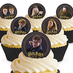 harry potter cupcake toppers, harry potter edible cupcake toppers