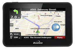 Binatone R435 4.3 inch Satellite Navigation with UK and Ireland Map