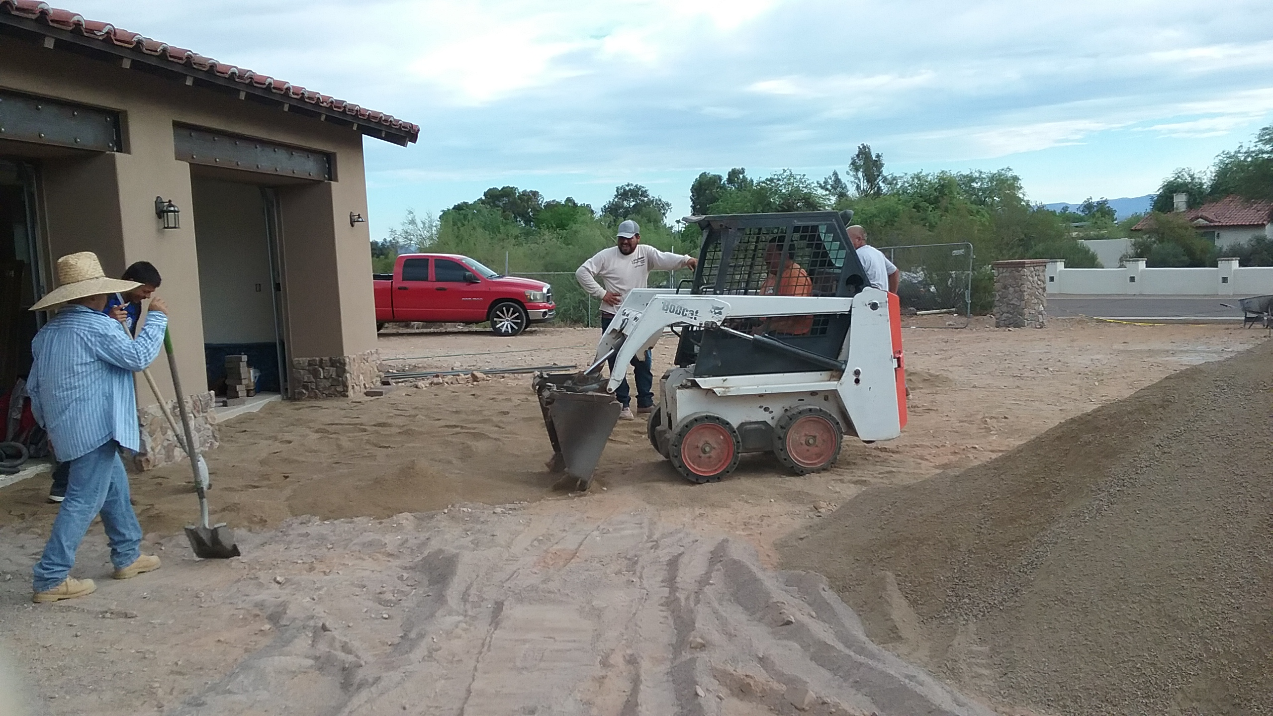 Preparing a driveway for Pavers