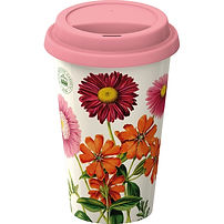 Creative Tops Royal Botanic Gardens Kew-Painted Daisy Double Walled Travel Mug, floral travel mug, floral travel accessories, floral travel gifts, travel presents, gifts for travellers