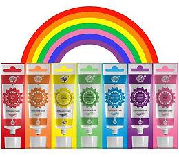 rainbow dust cake colour set, gifts for cake decorators