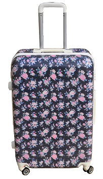floral sutcase, floral luggage, floral travel presents, floral travel gifts, rose suitcase