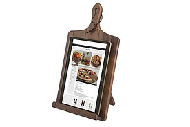 acacia wood tablet stand, best tablet stands, kitchen tablet stands, kitchen tablet holders, wooden kitchen tablet stands, kitchen ipad stands, kitchen kindle stands, chef tablet stands, cook tablet stands