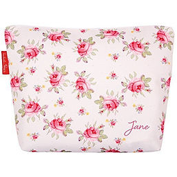 personalised toiletry bag izabela peters vintage rose, floral travel gifts, floral travel presents