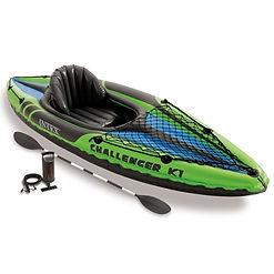 INTEX K1 CHALLENGER KAYAK, inflatable kayaks, best inflatable kayaks, top inflatable kayaks, family inflatable kayaks, inflatable kayaks for 2, travel presents travel gifts, inflatable kayaks for 4, cheap inflatable kayaks