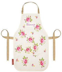 personalised floral apron, rose apron, floral apron, flower apron, floral baking gifts, home baking gifts, gifts for bakers