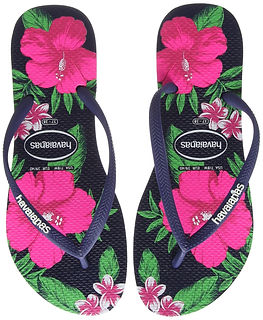 floral flip flops, havaianas flip flops, floral travel accessories, floral travel gifts, travel presents, travel gifts