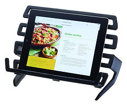 cast iron tablet stand, best tablet stands, kitchen tablet stands, kitchen tablet holders, wooden kitchen tablet stands, kitchen ipad stands, kitchen kindle stands, chef tablet stands, cook tablet stands