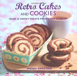 retro cakes and cookies, retro baking book, retro recipes, retro gifts