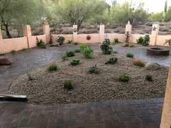 Transformed backyard with pavers