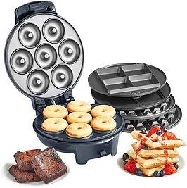 VonShef 3-in-1 Waffle Maker, Brownie & Doughnut Maker