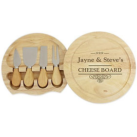 personalised cheese set, personalised cheese board, baking gifts for newlyweds, kitchen gifts for newlyweds, kitchen gifts for weddings, wedding kitchen gifts, wedding cooking gifts, home baking gifts, gifts for bakers, baking presents