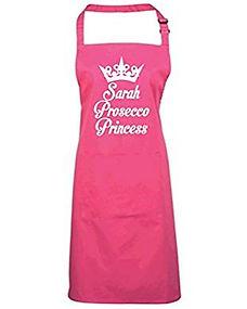 prosecco princess apron, funny prosecco apron
