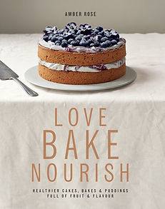 love bake nourish amber rose, healthy baking books, home baking gifts