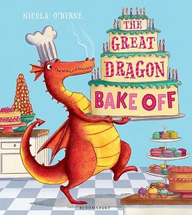 the great dragon bake off, baking picture books, baking books for children, easy baking books for children, recipe picture books, food picture books, best baking picture books, picture books for bakers, home baking gifts, gifts for bakers, baking gifts