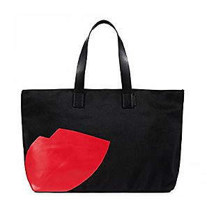 lulu guinness lips tote bag, travel gifts, travel presents